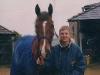 Hennessy Cormac arrives, April 2005, horse 5yo, Tom 14yo
